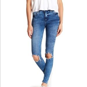 Nwt Free People Busted Knee High Wash Skinny Jeans